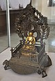Enthroned Seated Buddha - Bronze - Showcase 12-1 - Bronze Gallery - Government Museum - Mathura 2013-02-24 6637.JPG