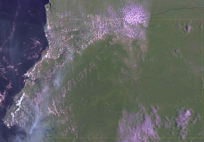 Satellitenaufnahme Äquatorialguinea