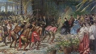Esbós de la inauguració de l'Exposició Nacional de les Illes Filipines