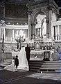 Esküvői, 1946 Budapest, Szent István-bazilika, főoltár. Fortepan 105146.jpg
