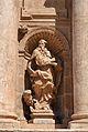 Estàtua de sant Jeroni a la façana de l'església de sant Miquel dels Reis.JPG