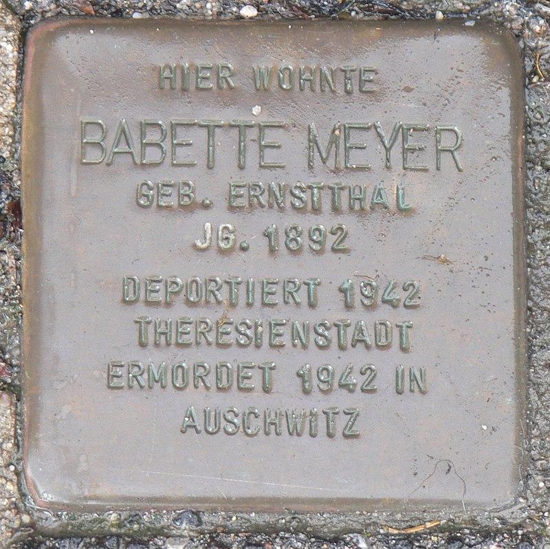 Estenfeld Stolperstein Meyer, Babette.jpg