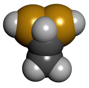 1,1-Ethanedithiol - Image: Ethane 11dithiol balls