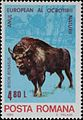 European bison on stamps Romania 1980.jpg