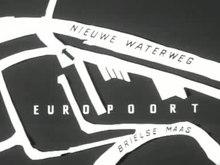 Extrait d'un journal télévisé montrant l'ouverture du lien entre le canal Nieuwe Waterweg et l'Europoort (1960).