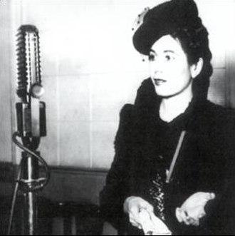 Radionovela - Eva Perón, who became a popular radio actress in the early 1940s
