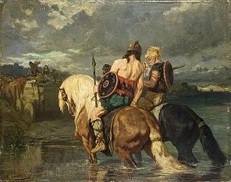 Asterix - Image: Evariste Vital Luminais Goths traversant une rivière