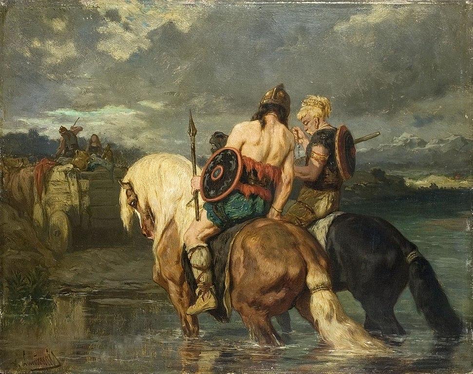 Évariste Vital Luminais - Goths crossing a river