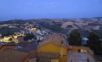 Ripacandida - Evening view of hills from Ripacandida