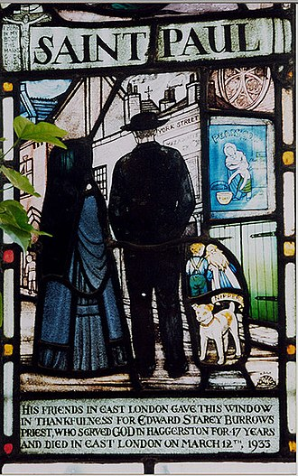 Parish (Church of England) - A window commemorating a priest who served his parish for  47 years
