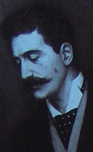 Félicien Rops - Detail from The Members of the Société Libre des Beaux-Arts by Edmond Lambrichs