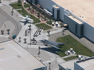 United States Air Force Plant 42 - Entrance plaza of the Lockheed Skunk Works, Palmdale, California
