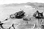 F4Us on USS Kearsarge (CV-33) at Yokosuka 1952.jpg
