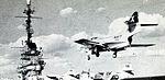 F9F-8 from VA-46 landing on USS Randolph (CVA-15) c1956.jpg