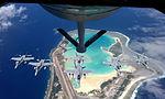 FA-18 Hornets being refueled over Wake Island 2011.jpg