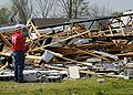 FEMA - 40834 - U.S. Army Corps of Engineers estimator assessing tornado damage in Arkansas.jpg
