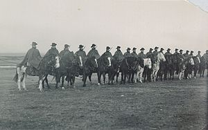Falkland Islands Defence Force - Members of the force on horseback in 1914.