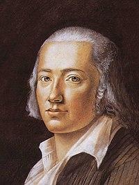 Hiemers Porträt von Friedrich Hölderlin, 1792 (Quelle: Wikimedia)