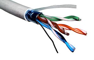 Twisted pair - F/UTP cable