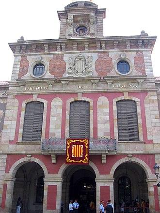 Palau del Parlament de Catalunya - Façade