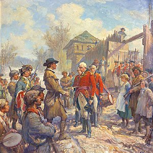 Western theater of the American Revolutionary War - The Fall of Fort Sackville, Frederick C. Yohn, 1923