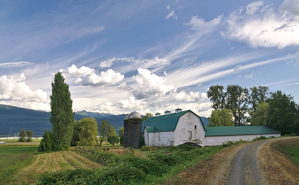 Farmhouse and barn in Abbotsford, BC