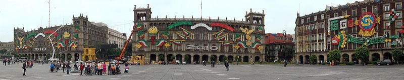Federal District buildings on Zocalo Mexico City.jpg