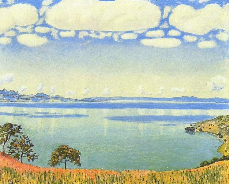 Lago, pintura de Ferdinand Hodler