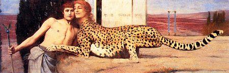 Fernand Khnopff: Sfinga, simbolistička inačica, 1896., Bruxelles