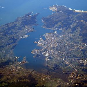 English: City of Ferrol, Spain taken from a Th...
