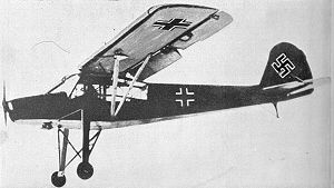 Hanna Reitsch - A Fieseler Fi 156 Storch similar to the one Reitsch landed in the Tiergarten near the Brandenburg Gate during the Battle of Berlin
