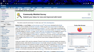 Firefox 83 on Windows 10 displaying Wikipedia