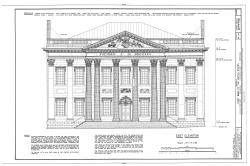 First Bank of the United States, 120 South Third Street, Philadelphia, Philadelphia County, PA HABS PA, 51-PHILA, 235- (blad 1 van 1) .png