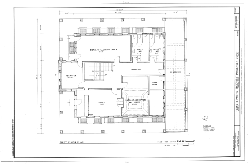 File First Floor Plan Texas And Pacific Railroad