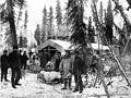 First survey party leaving Trans Alaska Co's camp at Holy Cross (formerly Kozherevsky), Alaska, October 29, 1901 (HEGG 625).jpeg