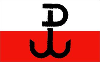 Lwów uprising - Image: Flaga PPP