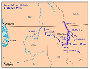 Flathead River - Wikipedia on glacier national park montana state map, butte montana state map, whitefish montana state map, bozeman montana state map, jackson montana state map, kalispell montana culture, helena montana state map, thompson falls montana state map, glendive montana state map, kalispell mt, lame deer montana state map, seeley lake montana state map, idaho montana state map,