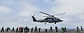 Flickr - Official U.S. Navy Imagery - A helicopter lifts off the flight deck of USS Nimitz..jpg