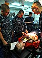 Flickr - Official U.S. Navy Imagery - USS Abraham Lincoln Sailors take part in shipboard drill..jpg