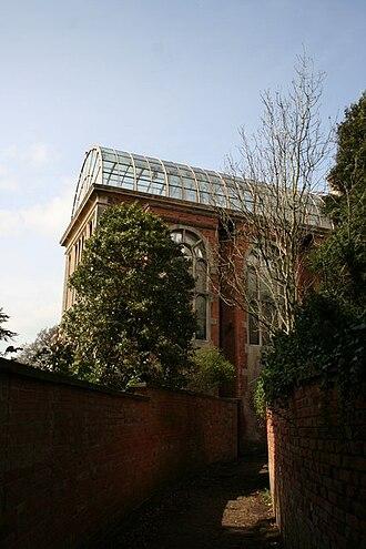 Flintham - Victorian conservatory, Flintham Hall