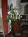 Floral display within St Giles, Graffham - geograph.org.uk - 1805568.jpg