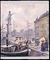 Folk som promenerar på Skeppsbron. Akvarell av Fritz von Dardel - Nordiska museet - NMA.0043716.jpg