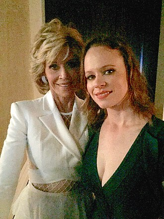 Thora Birch - Jane Fonda backstage with Birch before being honored at the 2015 Hollywood Film Awards
