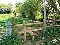 Footpath entrance, Nightingale Lane, South Marston, Swindon - geograph.org.uk - 799854.jpg