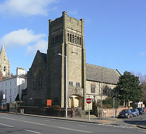St Columba's Church, Nottingham - Image: Former Presbyterian Church, Mansfield Road geograph.org.uk 1195759