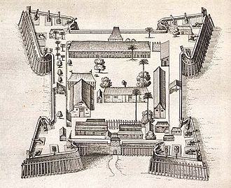 Banda Islands - Fort Nassau in 1646