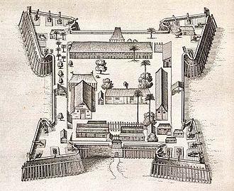 Dutch conquest of the Banda Islands - Fort Nassau on Banda Neira in 1646