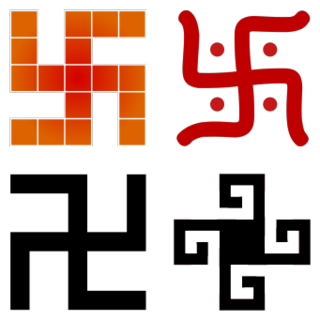 Swastika a geometrical figure and an ancient religious icon in the cultures of Eurasia and 20th-century symbol of Nazism