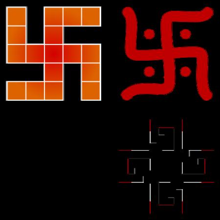 「卍」は多くの文化で多様な形状や意味が見られる。