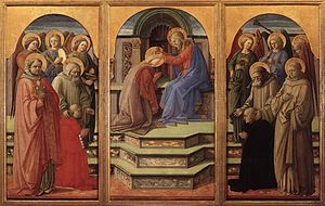 Fra Filippo Lippi - Coronation of the Virgin -...